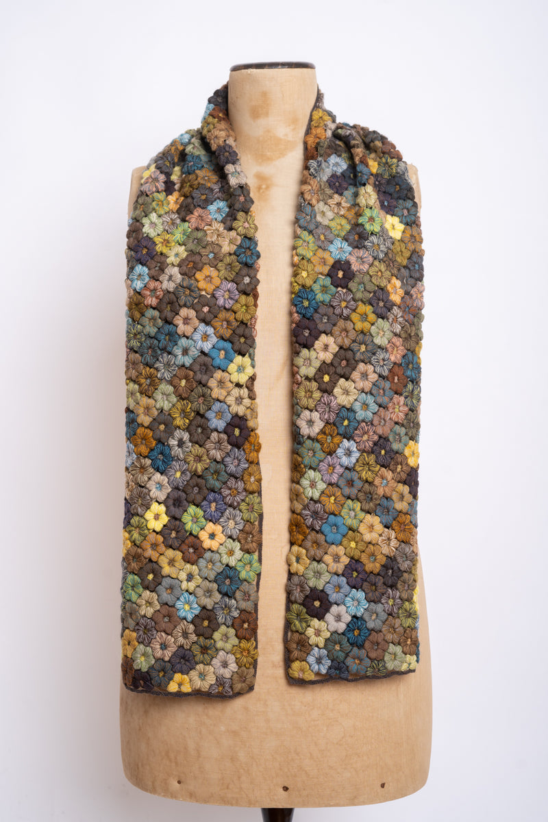 Sophie Digard - E3051L Mr BV- Freesias Large crochet Scarf