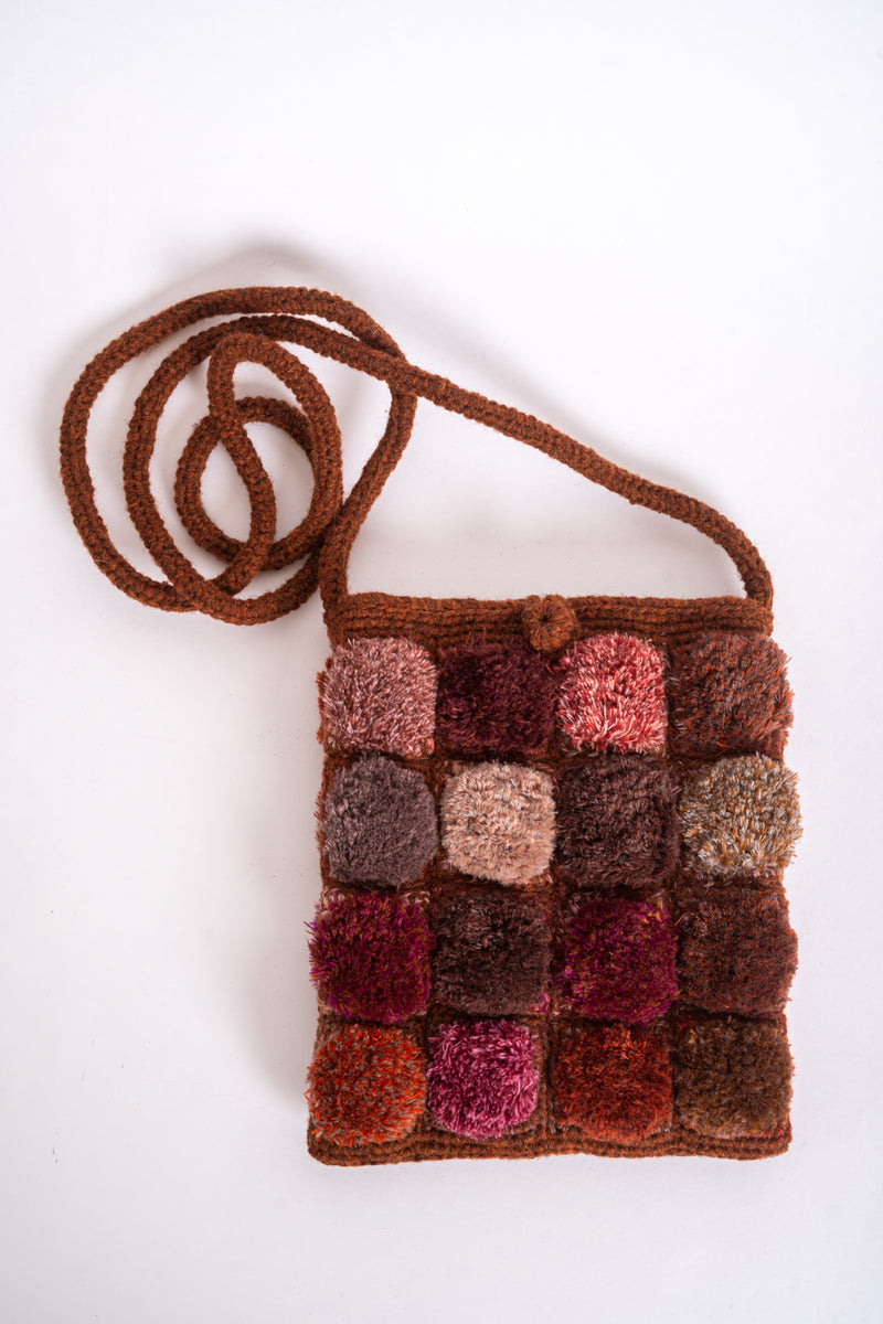 Sophie Digard - SP3886/SS Sienna-BRG - small wool macrame cross body bag