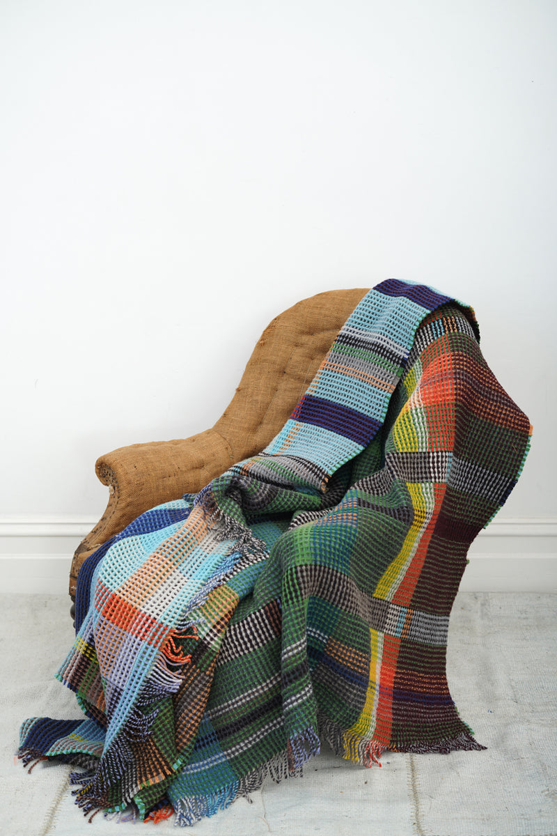 Wallace Sewell - Honeycomb wool Throw Wilding - large