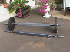 "3"" x 3"" Square Barbell (choice of standard plate or Olympic plate versions)"