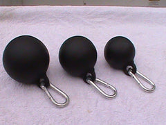 Spherical Handle with Carabiner (3, or 4 inch diameter)