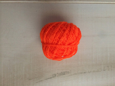 Orange Acrylic Yarn