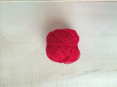 Red Acrylic Yarn