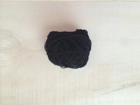 Black Acrylic Yarn