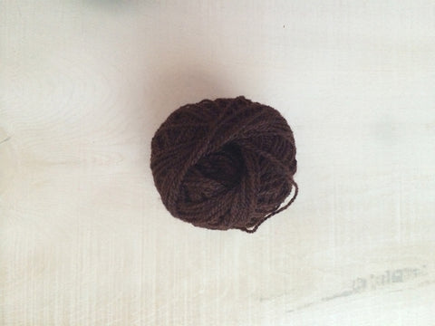 Brown Acrylic Yarn