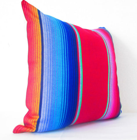 Colorful Sarape Red Tribal Pillowcase