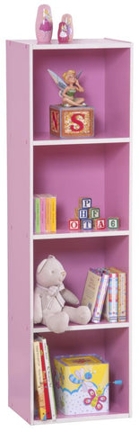 Bookcase 4-Tier Pink