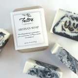 Charcoal Soap with Rosemary and Peppermint Essential Oils - Vegan, Made with Organic Oils - Feltre Artisan - 2