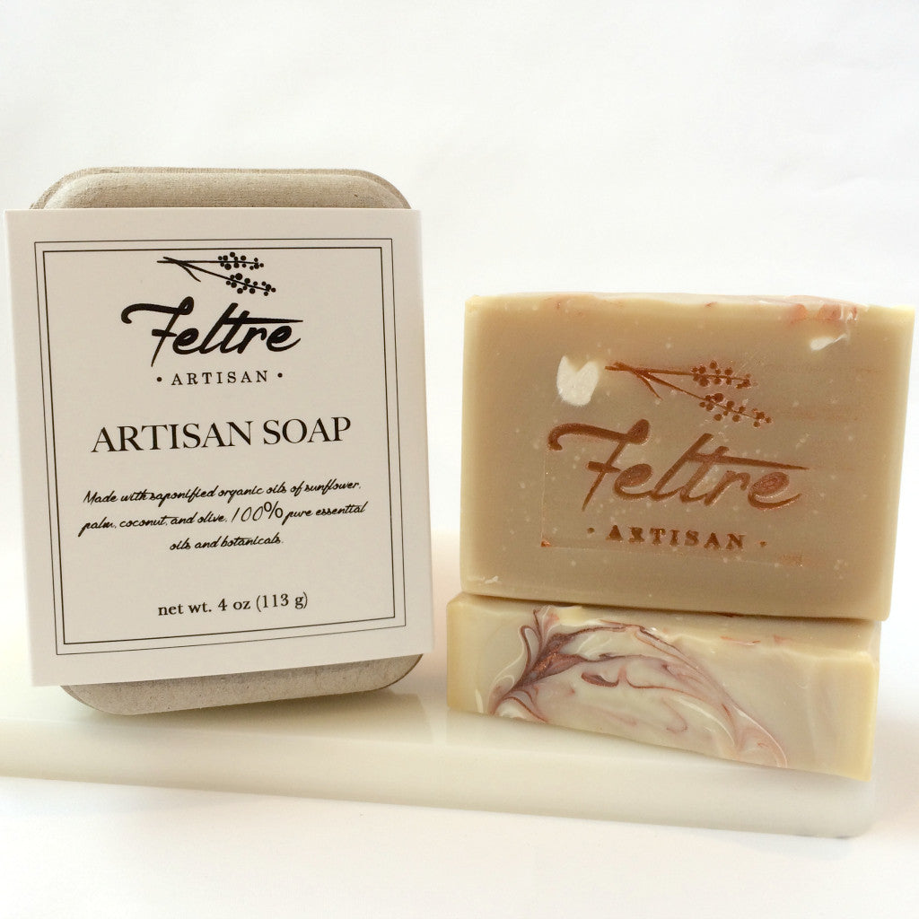 Coffee and Cocoa Butter Soap with Coffee Essential Oil - Vegan, Made with Organic Oils - Feltre Artisan