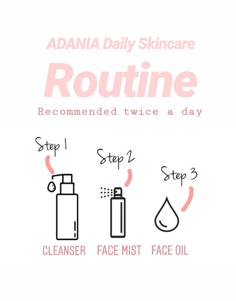 STEP UP YOUR SKINCARE ROUTINE WITH ADANIA 3 BASIC STEPS DAILY FACE CARE REGIME
