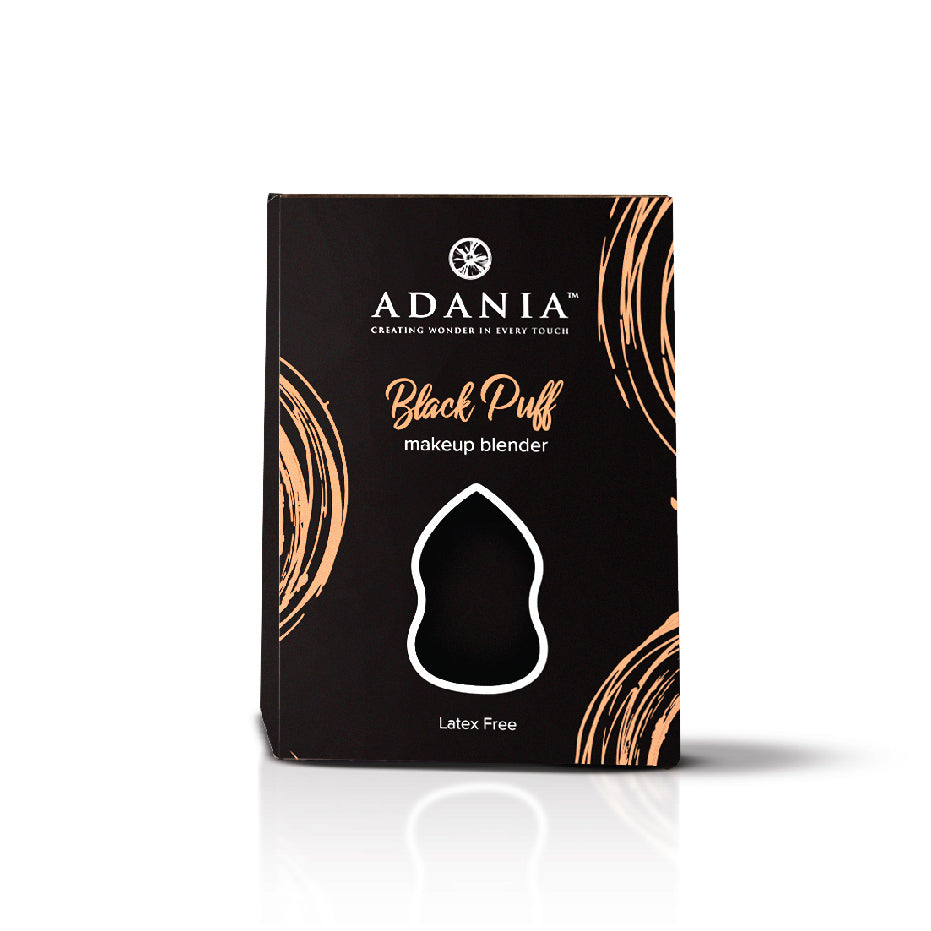ADANIA Black Puff Make-up Blender