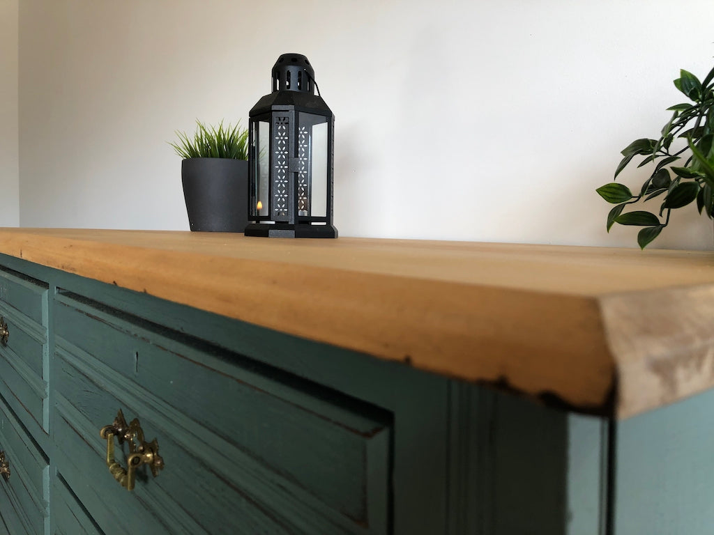 Rustic Industrial Antique Pine Buffet