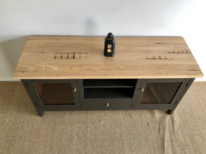 Hamptons Style Industrial Entertainment Unit