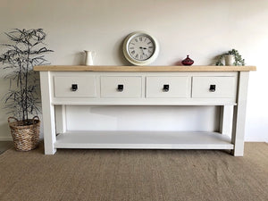 Large White Reclaimed Hamptons Style Hall Table