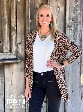 Baby Leopard Soft Long Sleeve Cardigan (S-XL)