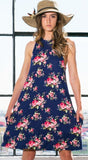 Floral Print Dress in Navy