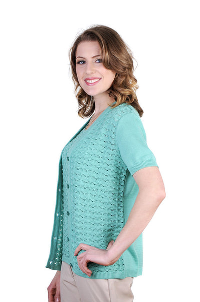 Stylish tank top + cardigan set. In 4 lovely colors.