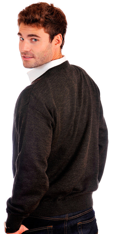 Unique, sporty and elegant Cooper v-neck sweater.