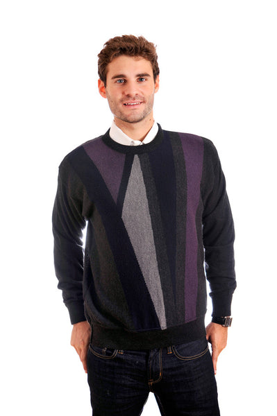 Sporty, unique, masculine Cooper crew neck sweater.