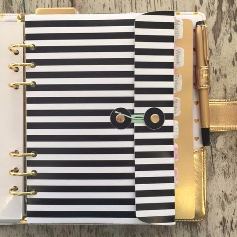Black And White Stripes A5 Planner Printable Pocket Envelope