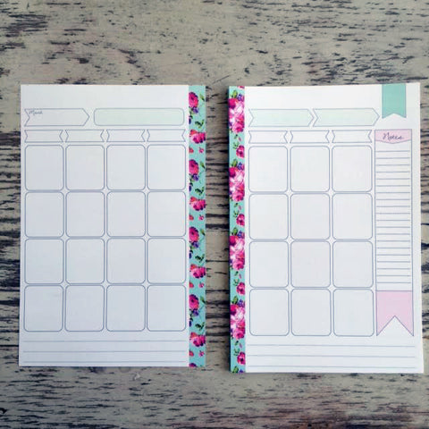 A5 Heart Of Gold Calendar Planner Inserts 13 pages (6 Hole Punched)