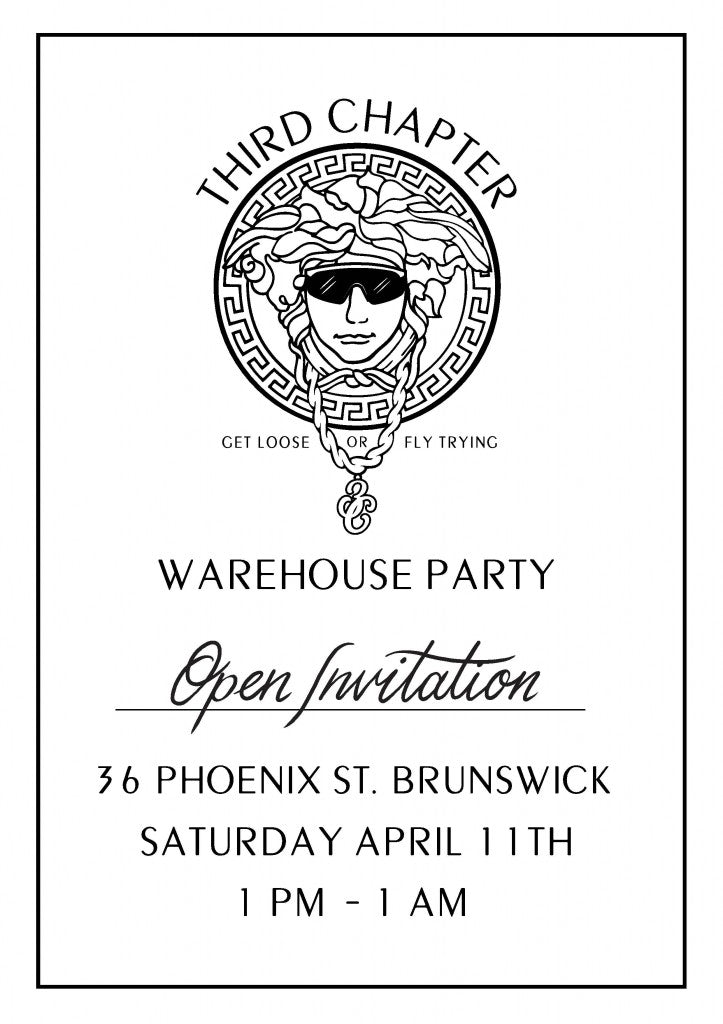 Third Chapter Warehouse Party Flyer