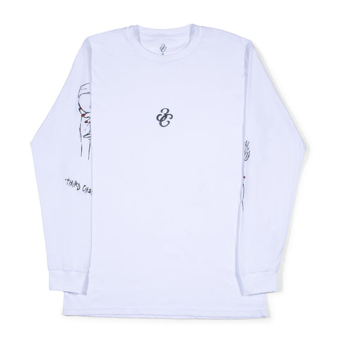Red Wine Long Sleeve White