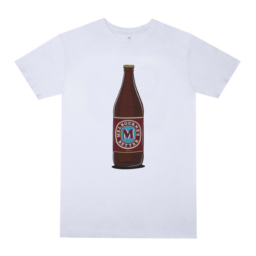 Melbourne's Better King Brown T-Shirt White