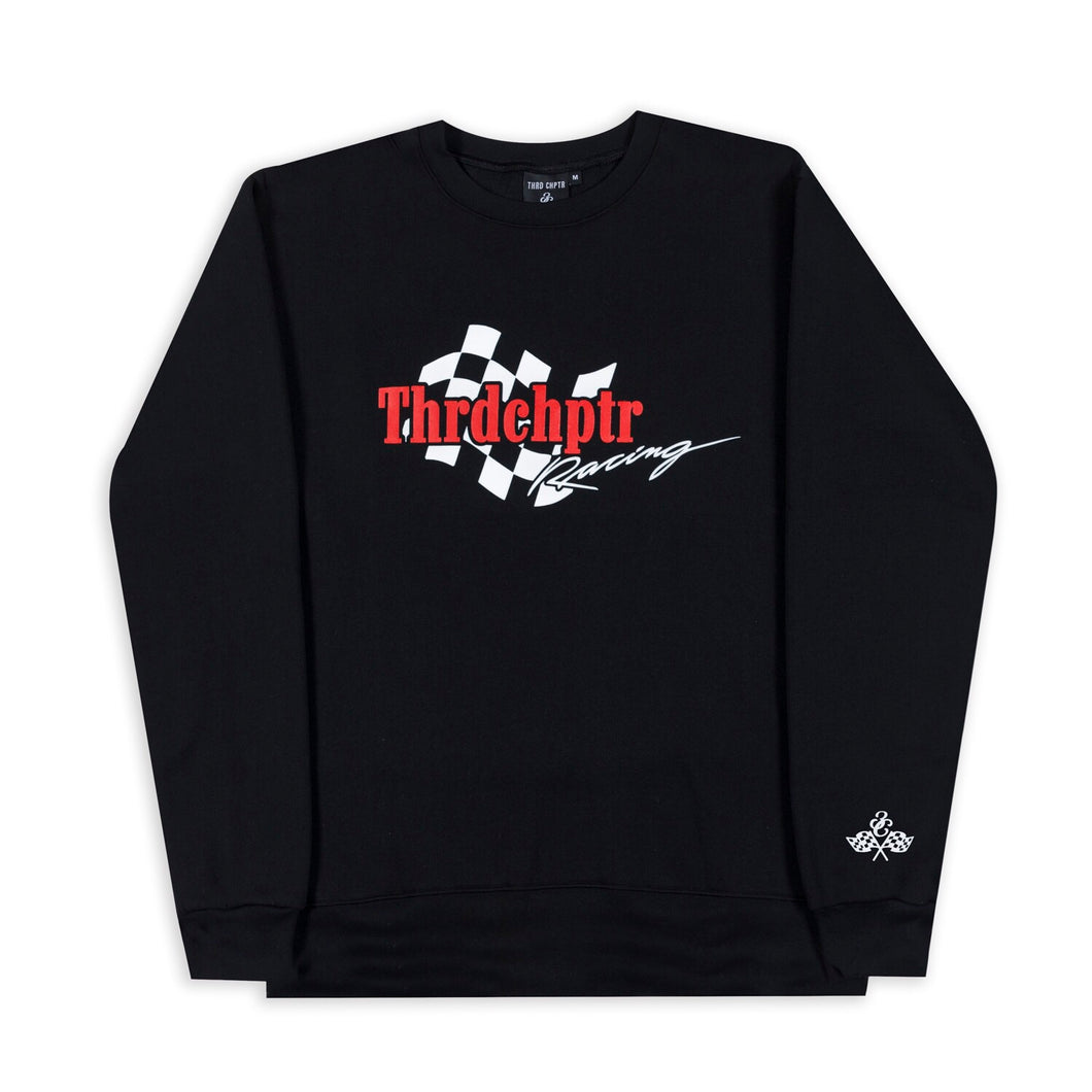 Racing Crewneck Black
