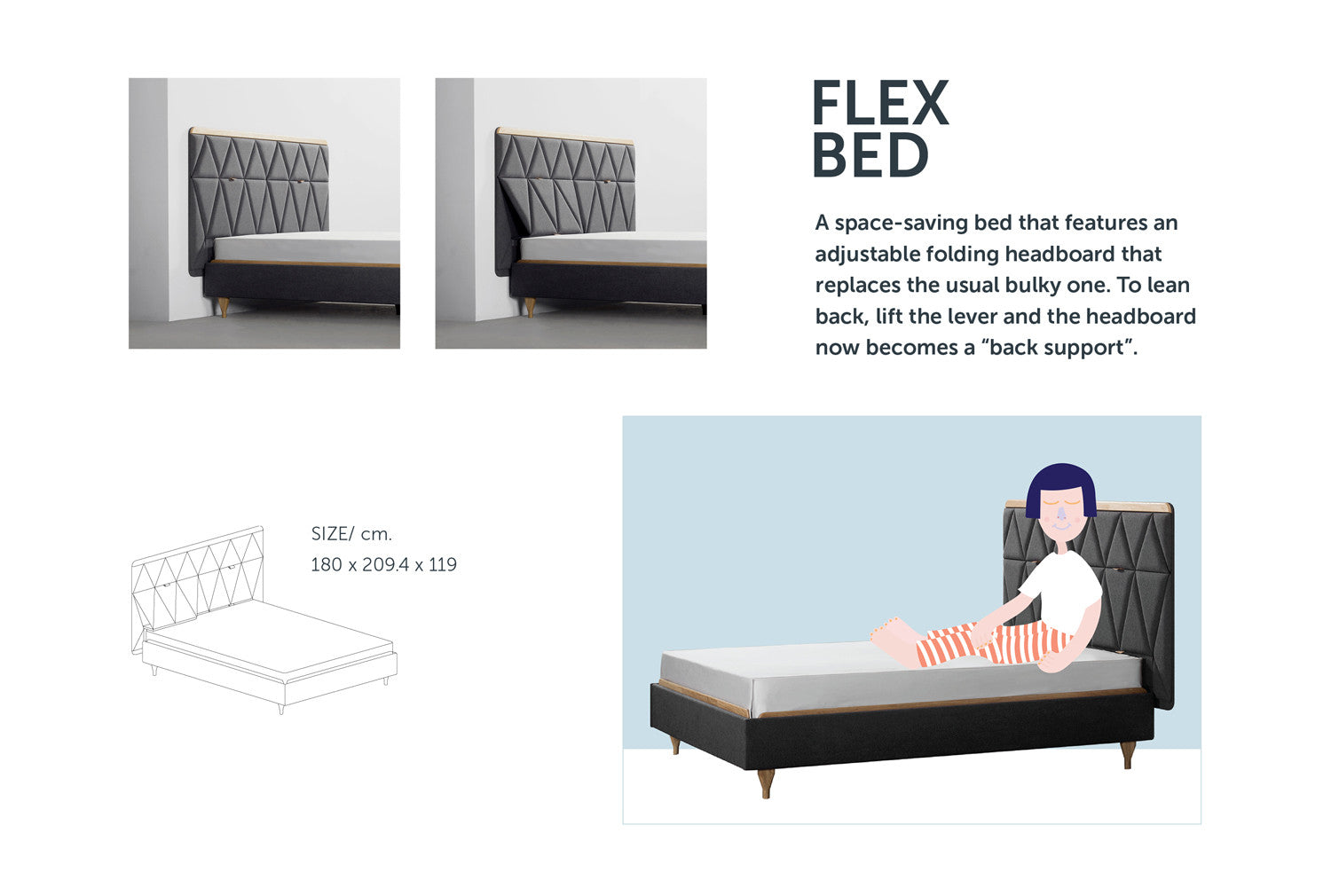 Flex Bed from Stretch Your Mind furniture collection by ziinlife