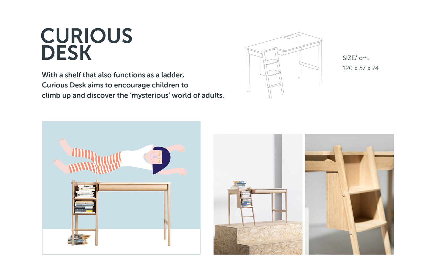 Curious Desk from Stretch Your Mind furniture collection by ziinlife