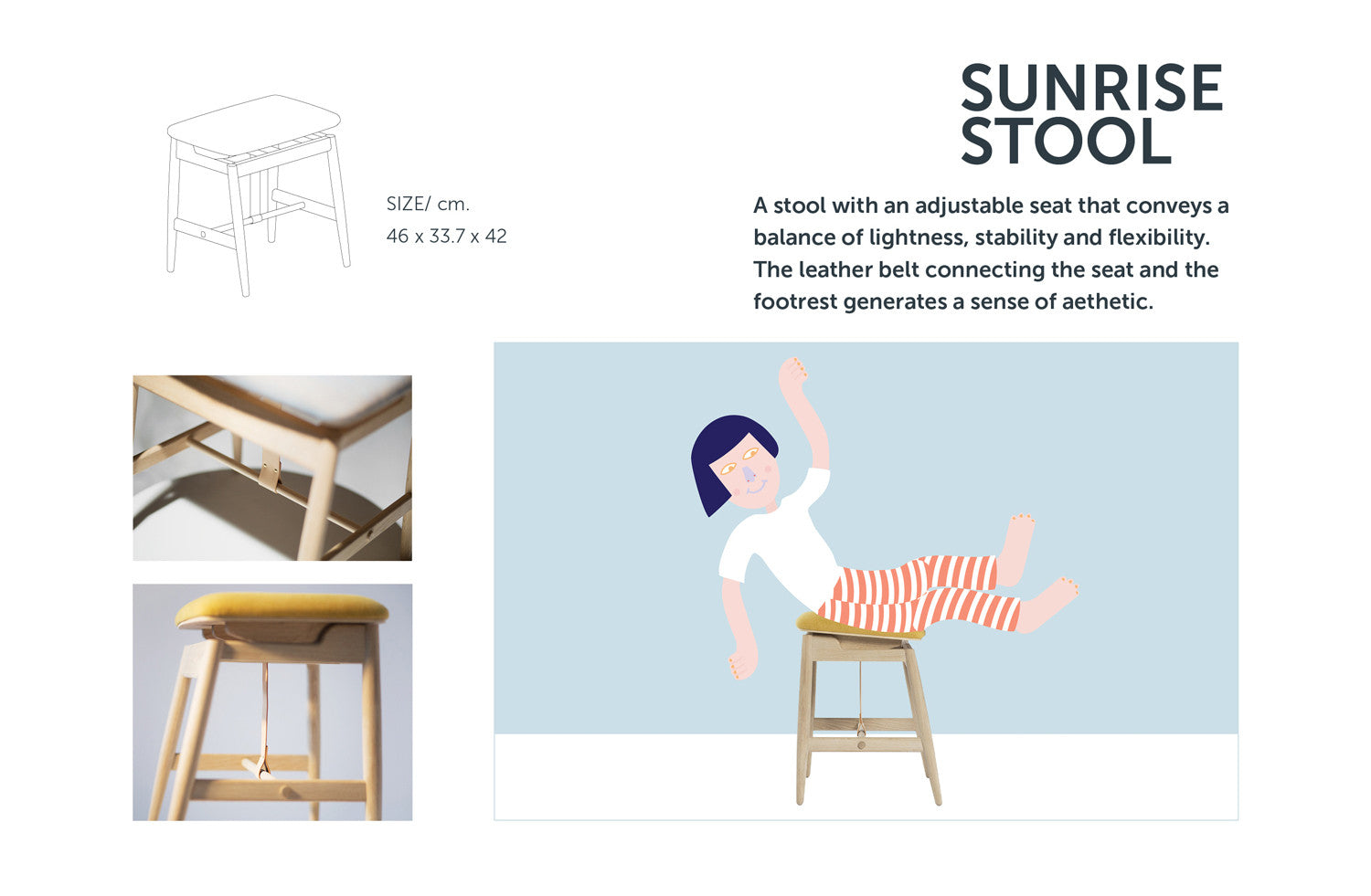 Sunrise Stool from Stretch Your Mind furniture collection by ziinlife