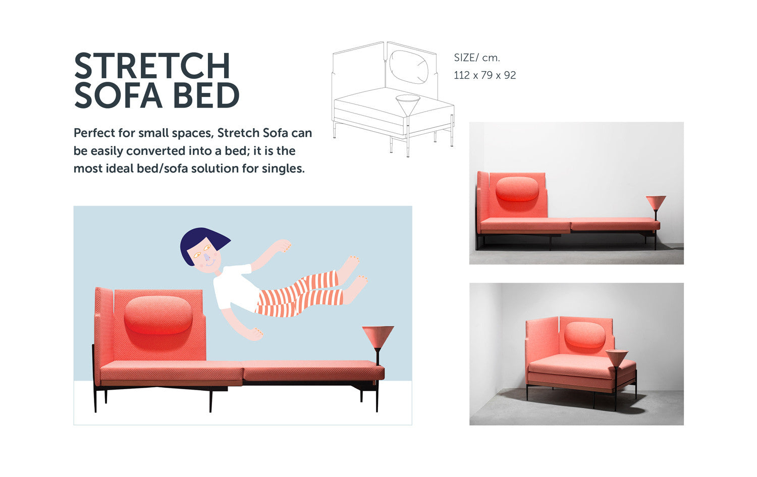 Stretch Sofa Bed from Stretch Your Mind furniture collection by ziinlife