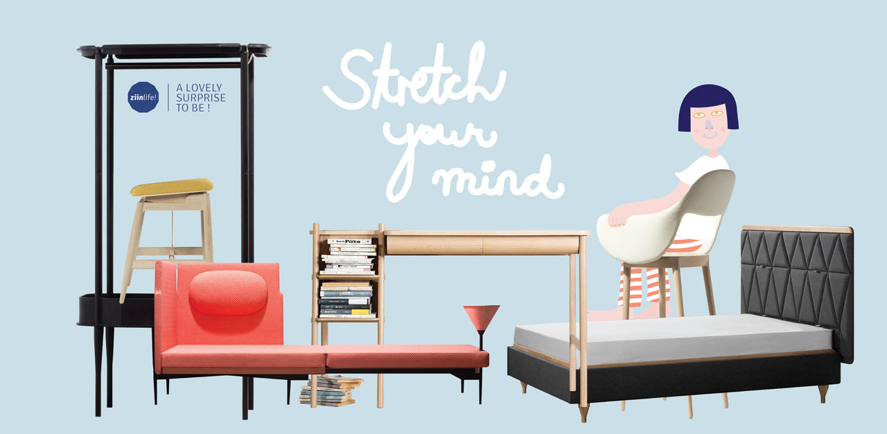 Stretch Your Mind furniture collection by ziinlife Modern Furniture Design