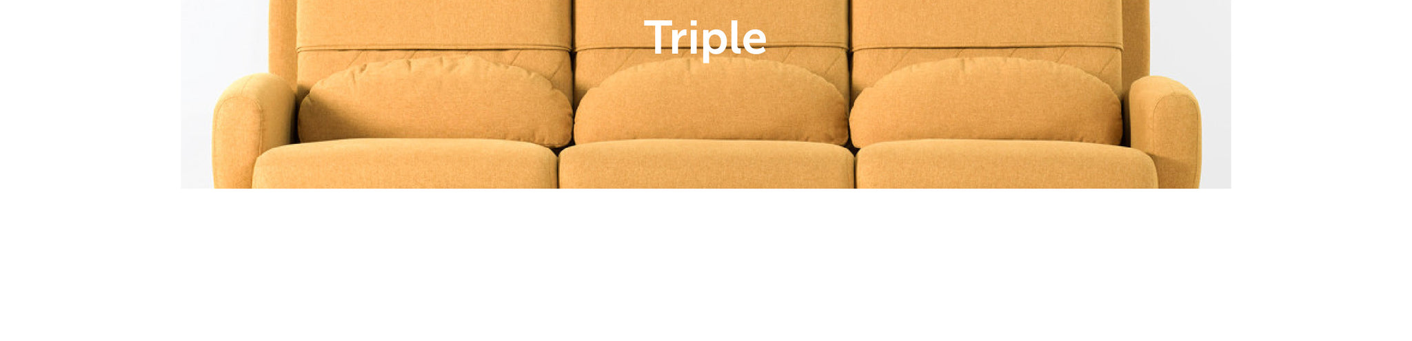 Turtleneck Sofa Triple from Playful Angles Furniture by Ziinlife