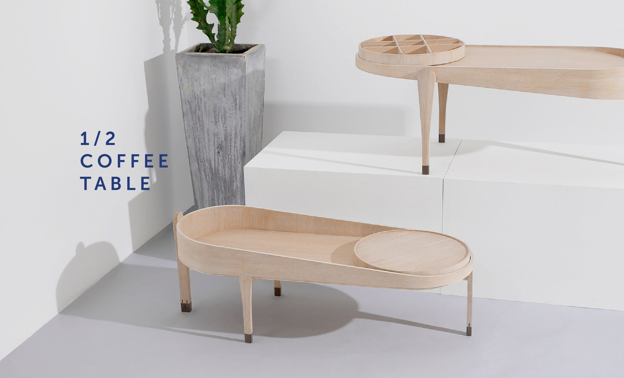 1/2 Coffee Table from Playful Angles Furniture Collection by Ziinlife