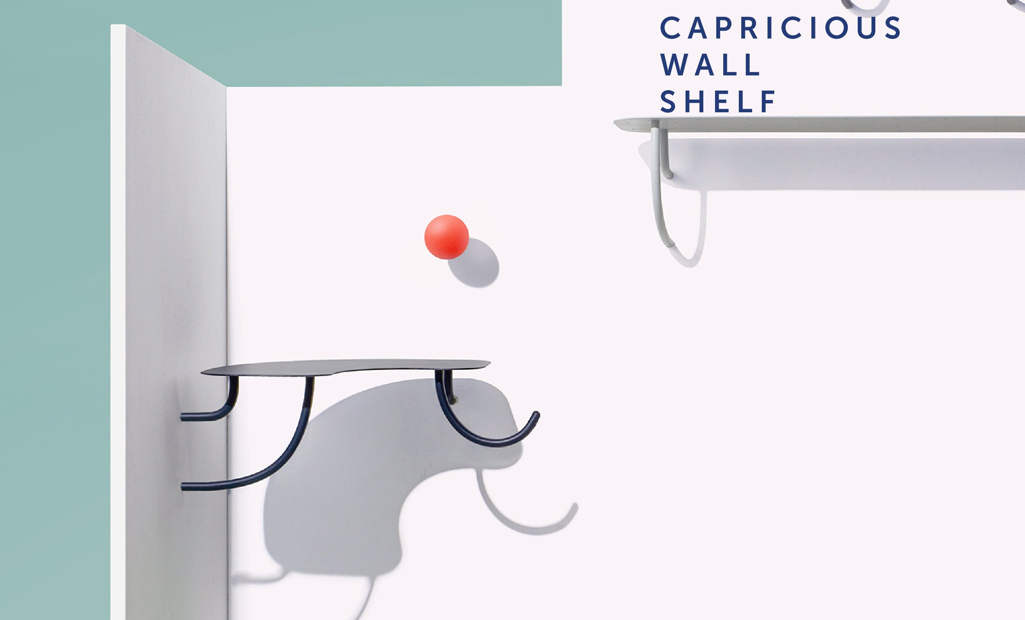 Capricious Wall Shelf from Playful Angles Furniture Collection by Ziinlife