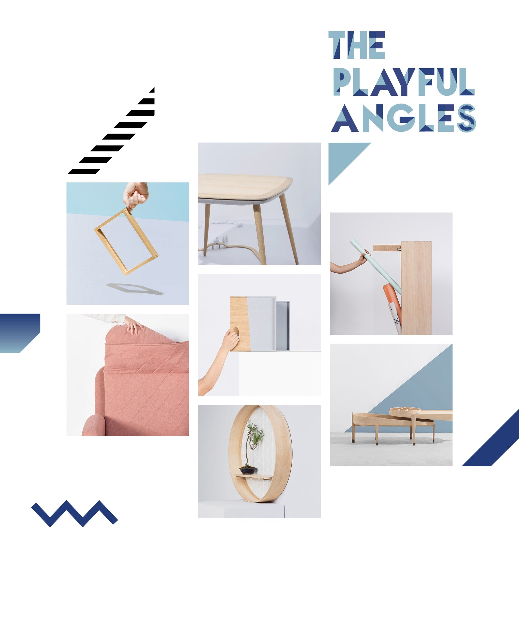 The Playful Angles Furniture Collection by Ziinlife