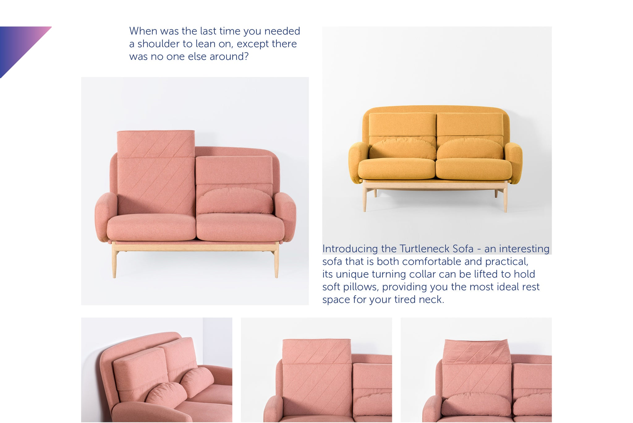 Turtleneck Sofa from Playful Angles Furniture by Ziinlife