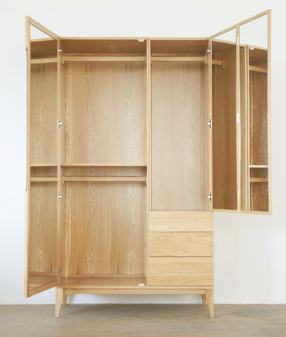 WIDE WARDROBE open