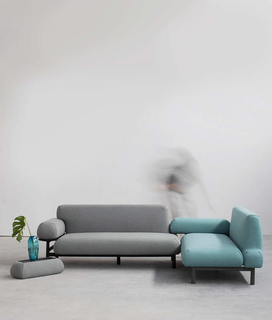 Ziinlife Together Sofa Grey and Absinthe Green