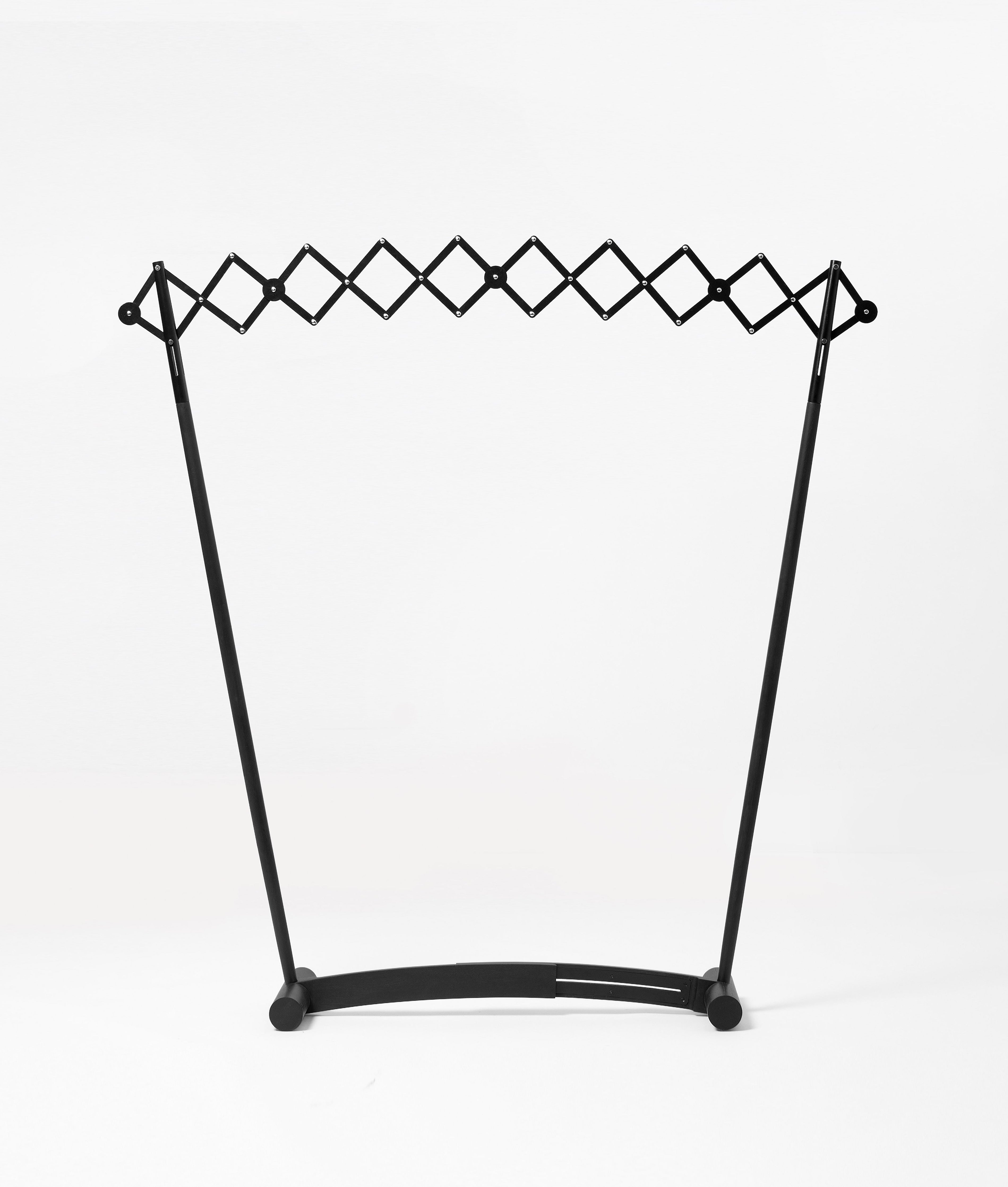 Ziinlife rainbow clothes stand black square
