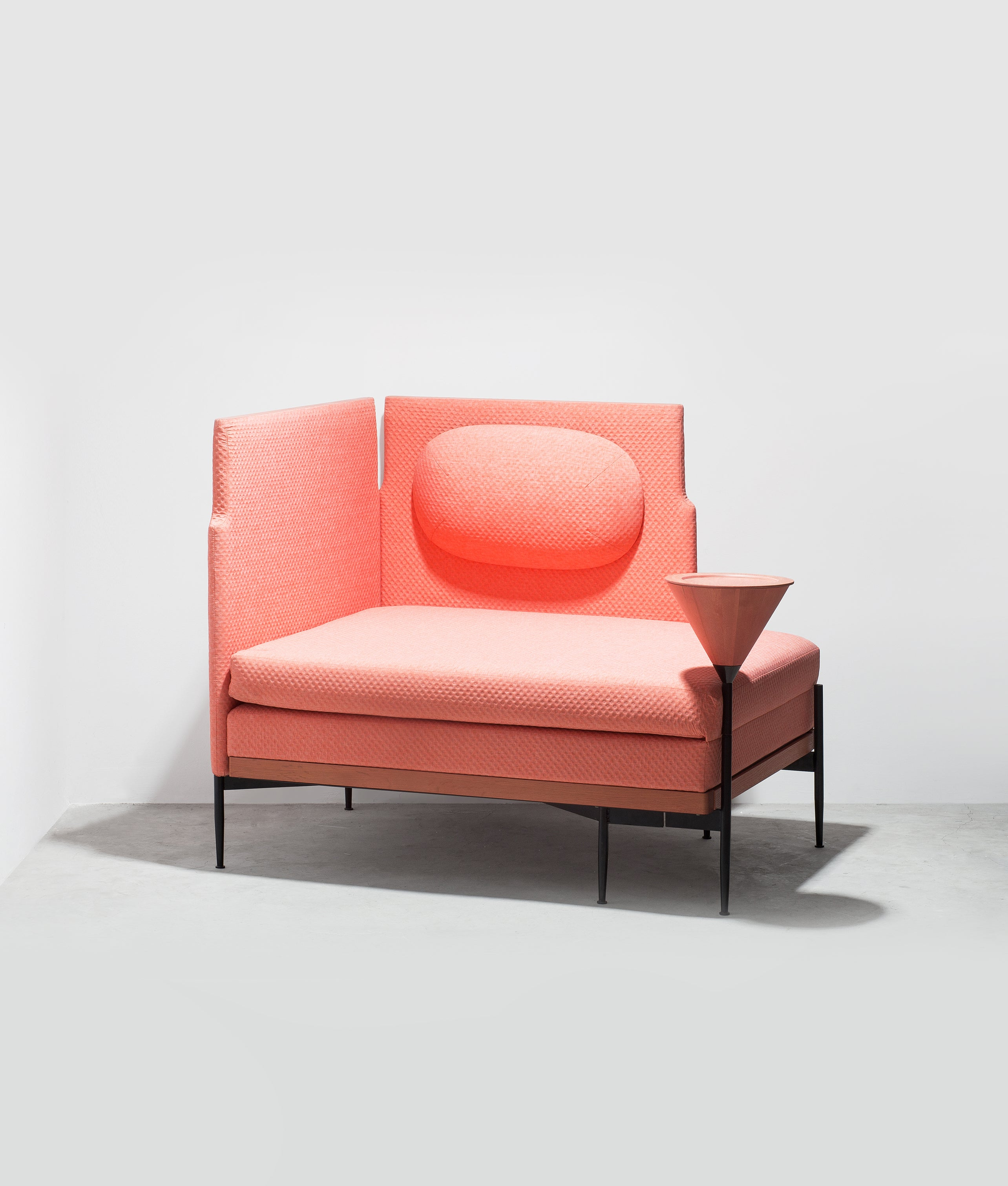 STRETCH SOFA BED coral red