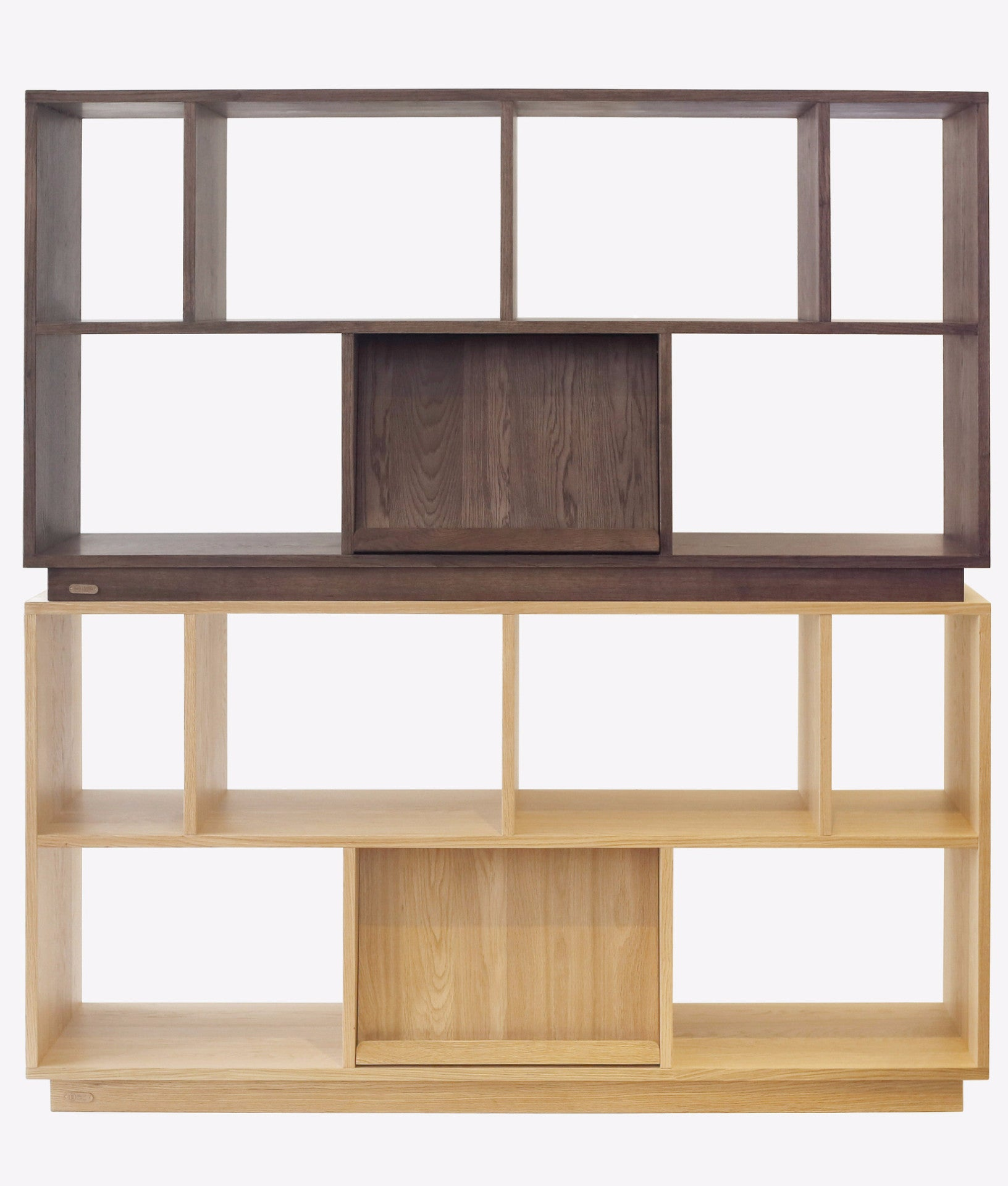 ZIINLIFE-KARLI-BOOKSHELF-MODULE-OAK-WALNUT