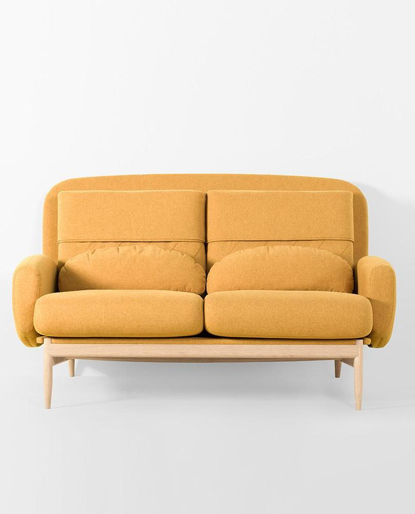TURTLENECK SOFA - DOUBLE mustard