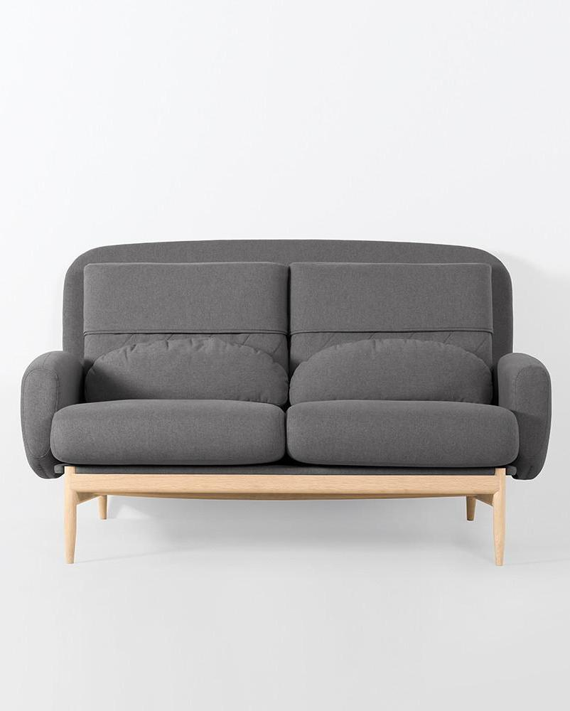 TURTLENECK SOFA - DOUBLE charcoal