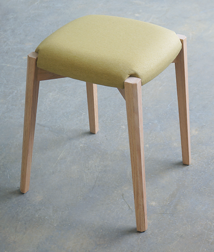 Ballet stool lime yellow
