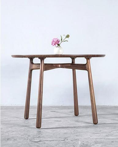 COME-TOGETHER ROUND TABLE BUNDLE SET Ziinlife Walnut
