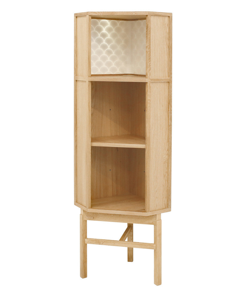 ENLIGHT CORNER CABINET Natural Oak
