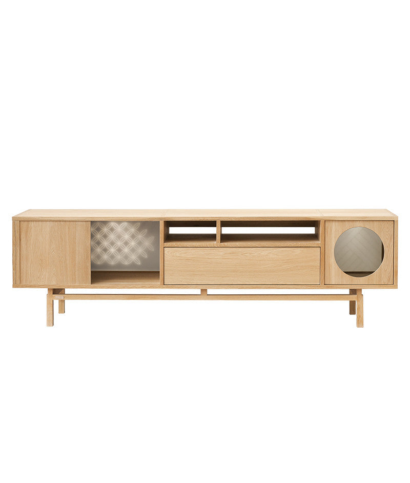ENLIGHT TV BENCH Natural Oak Ziinlife